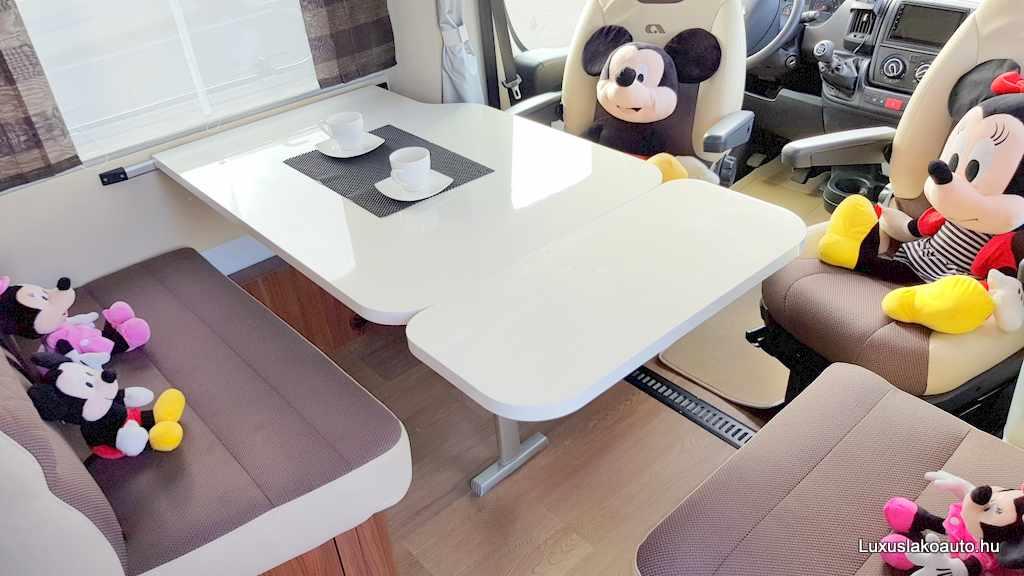 A luxus lakóautók férőhelyei